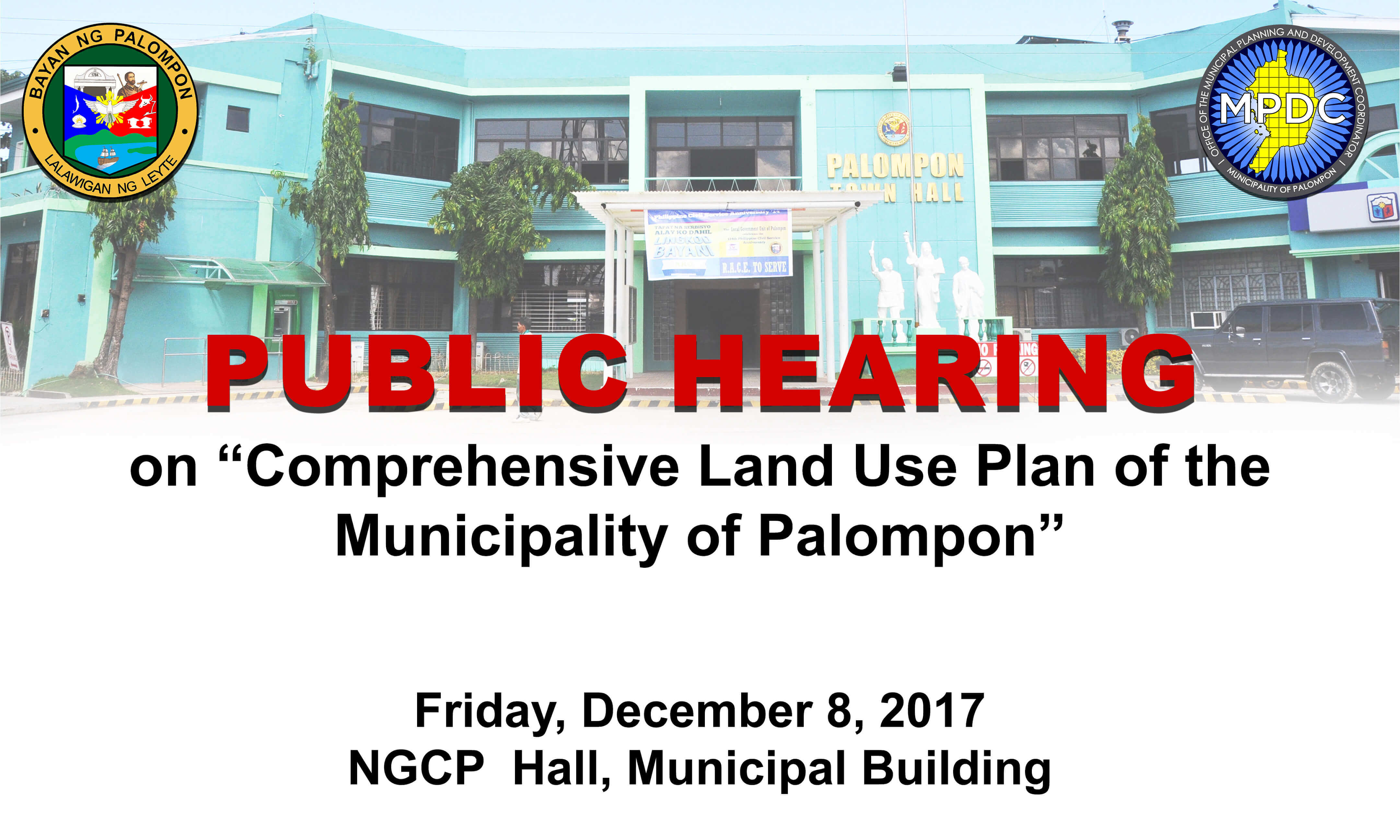 Public Hearing on the formulation of the Comprehensive Land Use Plan of the Municipality of Palompon