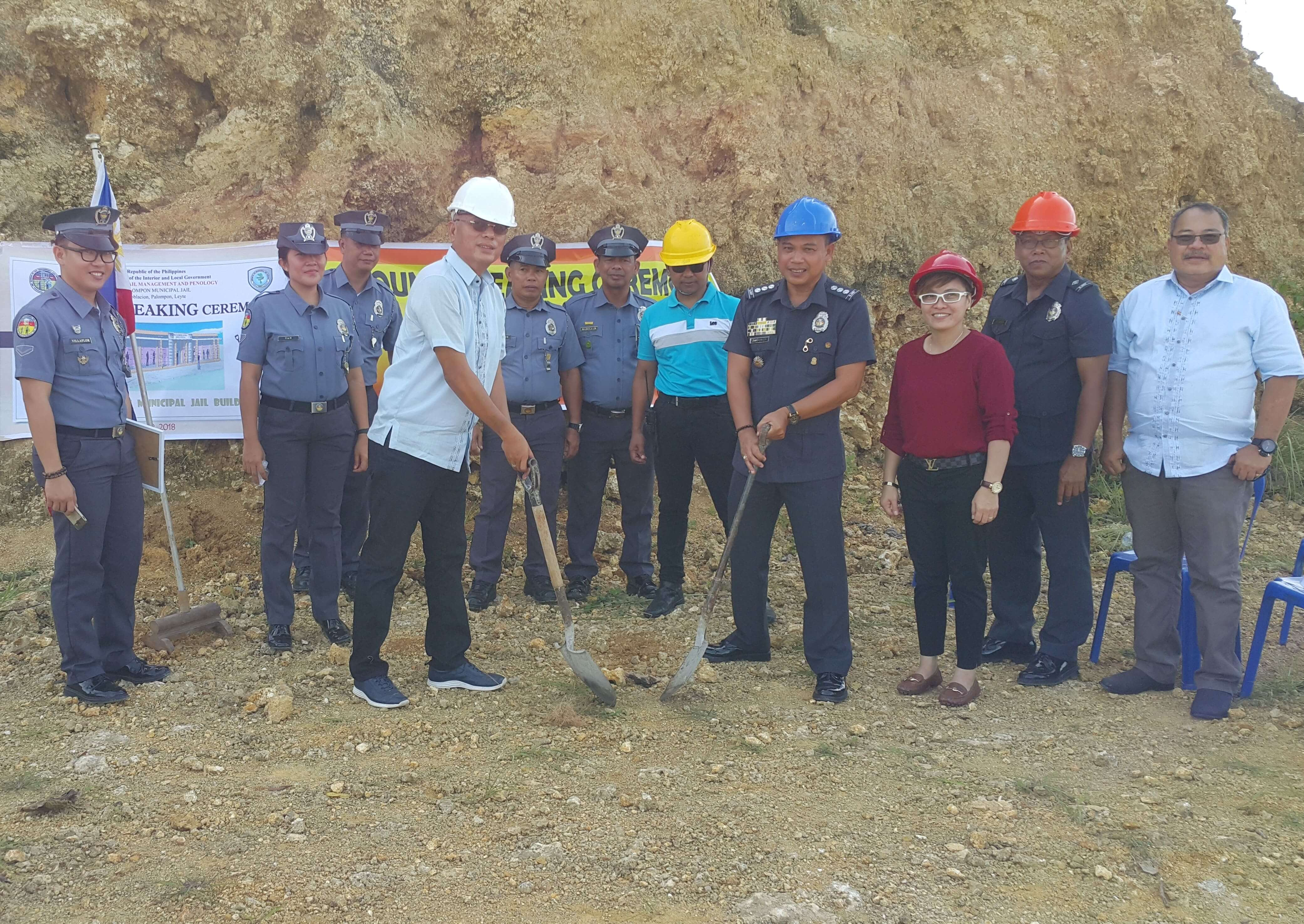 Ground Breaking Ceremony of New Palompon Municipal Jail Building