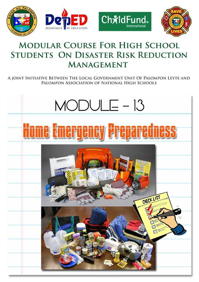 Module -13 & 16: Modular Course for High School Students On DRRM