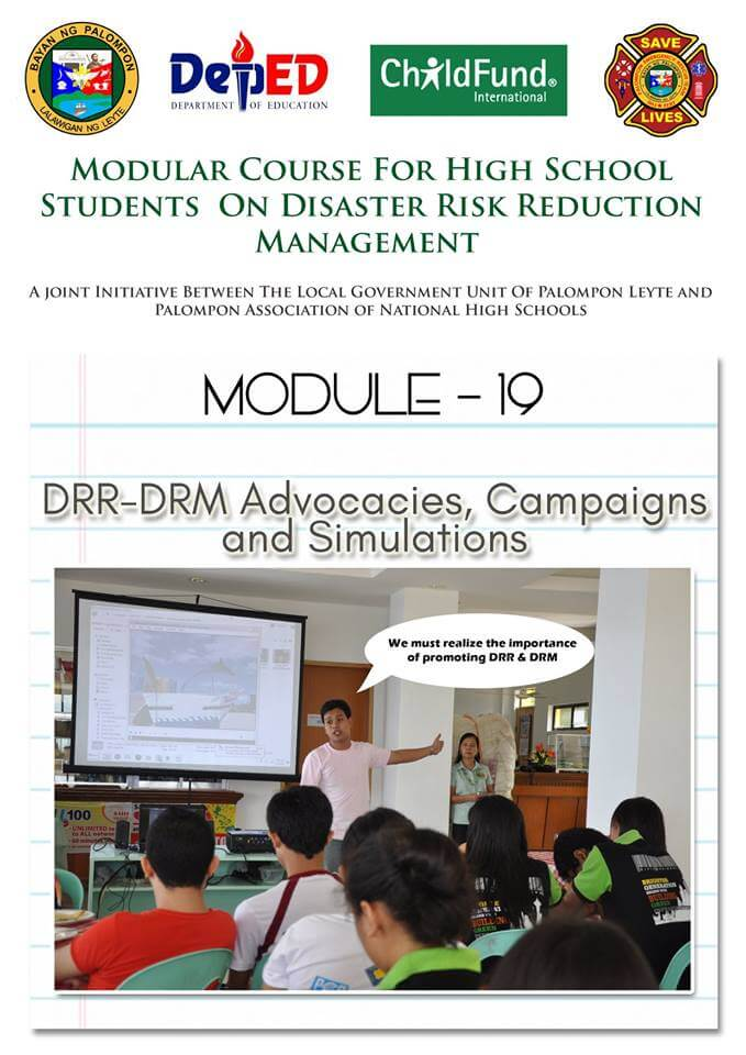 Module 17,18,19&20 :Modular Course High School Students On DRRM