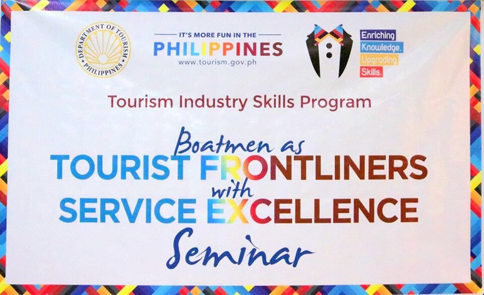 Boatmen as TOURIST FRONTLINERS w/ SERVICE EXCELLENCE Seminar