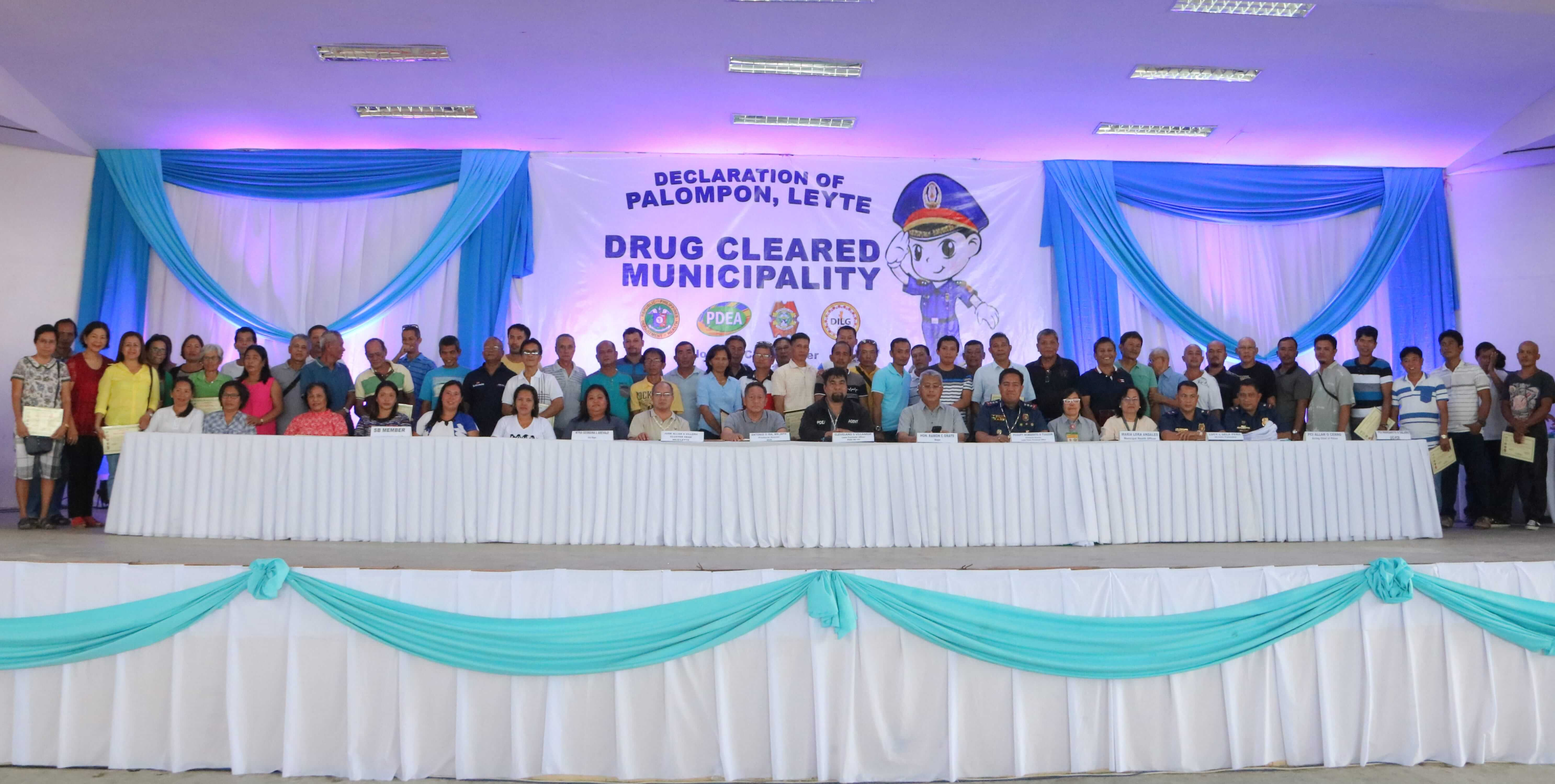 DECLARATION OF PALOMPON, LEYTE AS DRUG CLEARED MUNICIPALITY