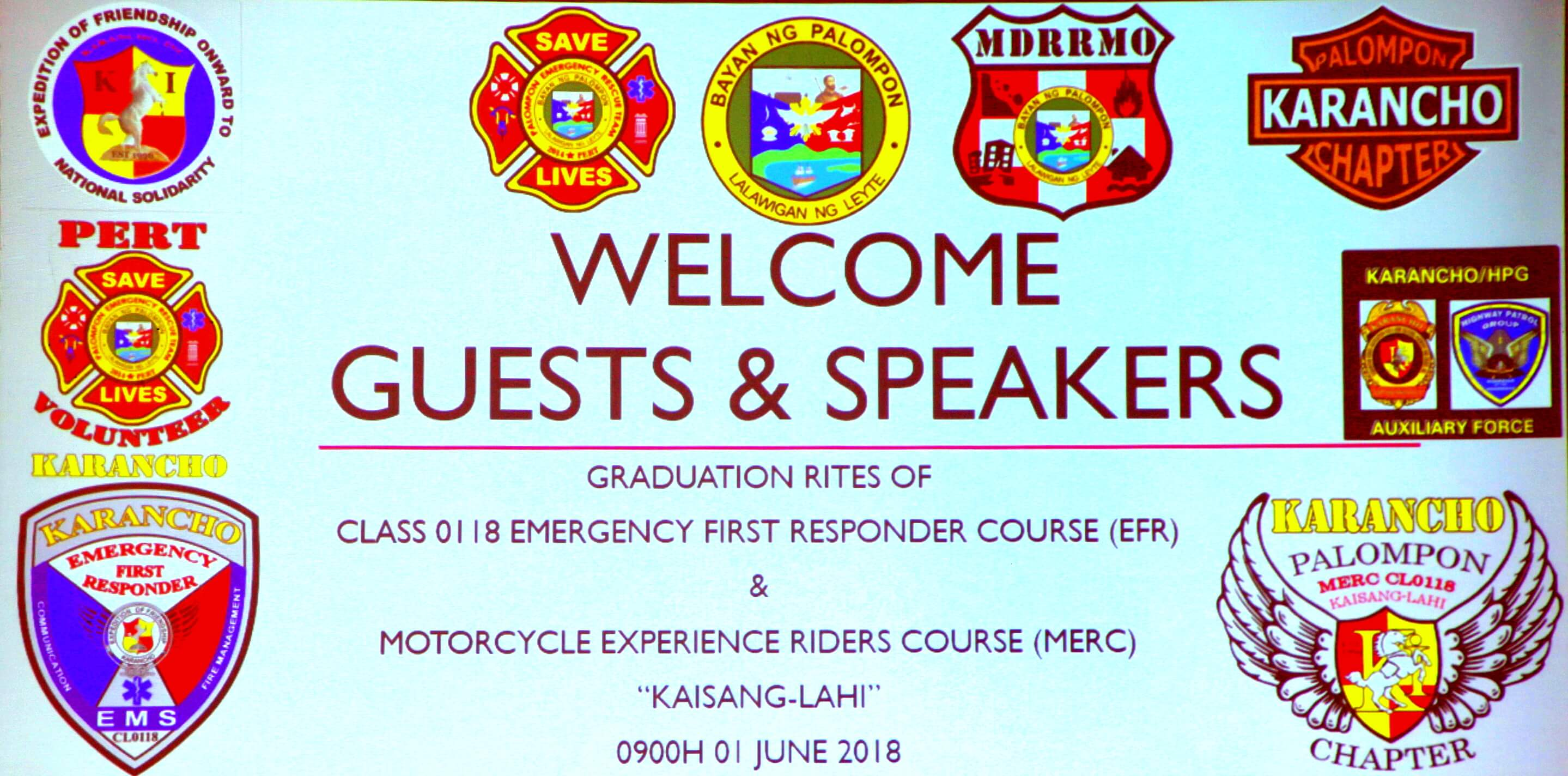 Graduation Rites of Class 0118 Emergency First Responder Course