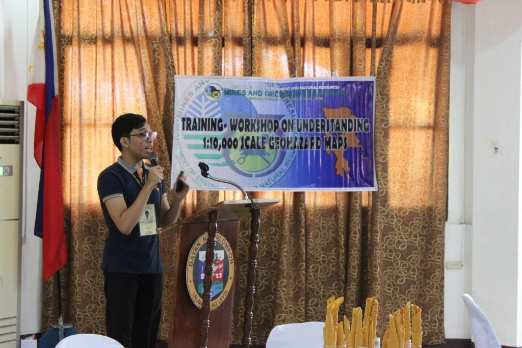 Information, Education and Communication campaign regarding rain-induced landslides and flooding with the 50 brgys. in Palompon . With the Mines and Geosciences Bureau Regional Office 8.