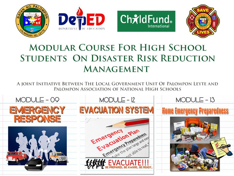 Modular Course for High School Students on Disaster Risk Reduction Management