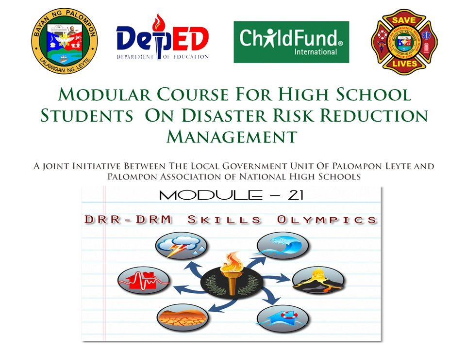 Modular Course for High School Student on Disaster Risk and Managemtn