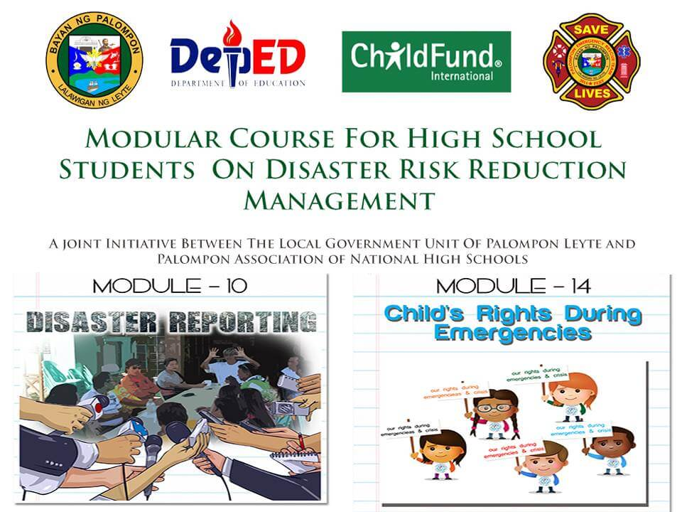 Module 10 & 14: Modular Course For High School Students On DRRM