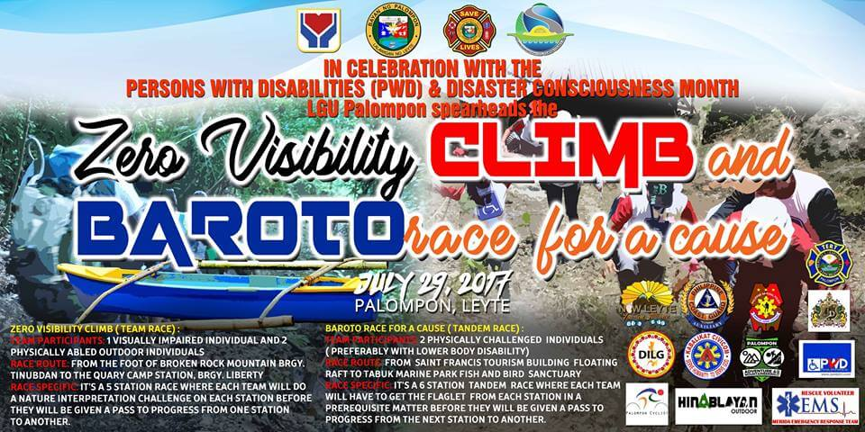Person with Disability Zero Visibility Climb & Baroto Race for a Cause