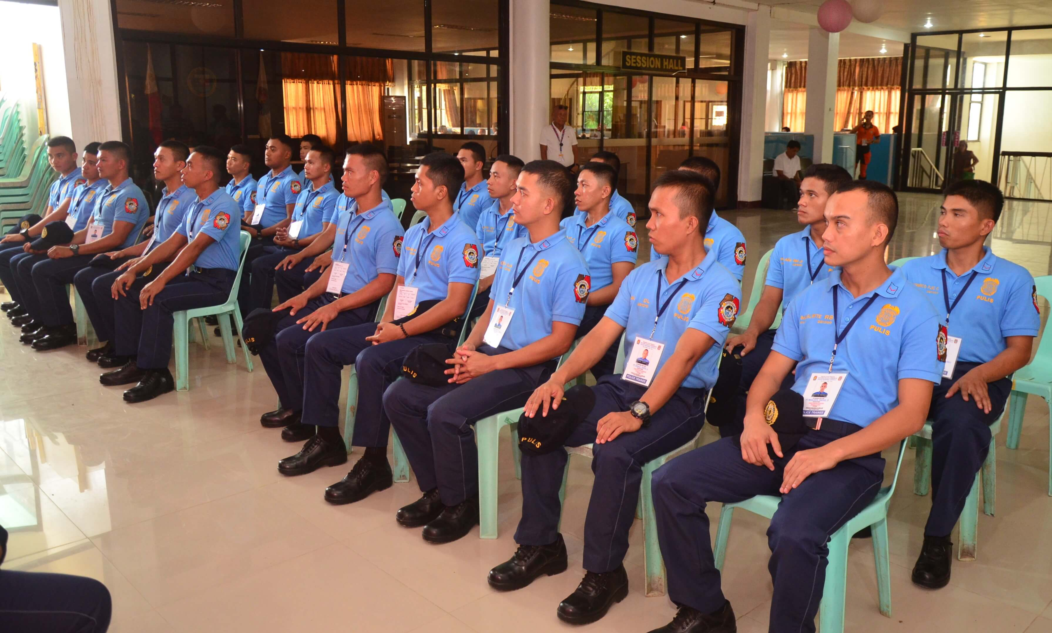 PNP PRO8 TRAINEES COURTESY CALL