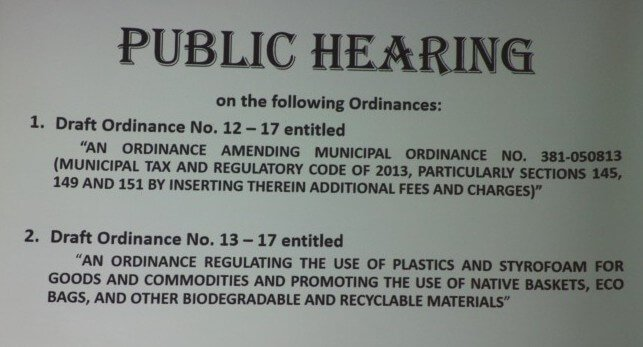 Public Hearing on the following Ordinances