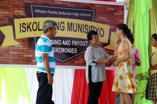 Alfredo Parilla National High School ISKOLAR SA MUNICIPYO PAYOUT