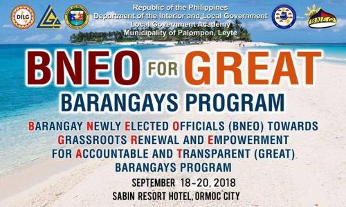 2nd Batch of BNEO for GREAT BARANGAYS PROGRAM