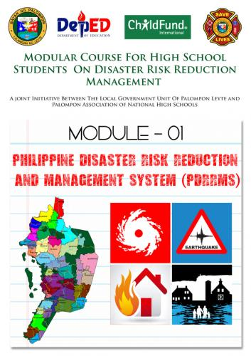 Module 01,02,03&4 :Modular Course High School Students On DRRM - This is the :4th year Modular Course for High School Students On Disaster Risk Reduction Management