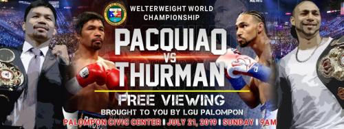 Pacquiao VS Thurman Free Viewing was brought to you by LGU Palompon Led by Mayor Georgina L. Arevalo, MD. and the Sangguniang Bayan Officials